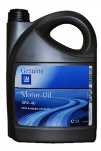 Моторное масло GM Motor Oil Semi Synthetic SAE 10W-40 (5л) арт 1942046