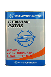 Трансмиссионное масло SSANGYONG Automatic Manual Transmission and Power Steering Oil (4л) арт 321